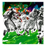 """Inside Pro Football,"" September 21, 1968 Giclee Print by Paul Calle"
