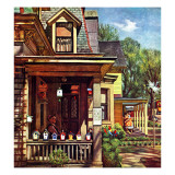 """Birdhouse Builder,"" May 8, 1948 Giclee Print by John Falter"