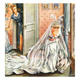"""Wedding Dress-Up,"" June 1, 1946 Giclee Print by Constantin Alajalov"