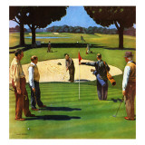 """Sand Trap,"" July 3, 1948 Giclee Print by John Falter"