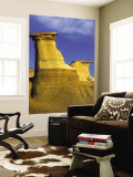 Hoodoos at Drumheller Alberta, Canada Wall Mural by Chuck Haney