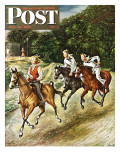 """Sailors on Girl Chase,"" Saturday Evening Post Cover, July 10, 1948 Giclee Print by Constantin Alajalov"