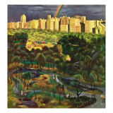 &quot;Central Park Rainbow,&quot; April 30, 1949 Giclee Print by John Falter