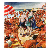&quot;Palefaces at the Beach,&quot; July 27, 1946 Giclee Print by Constantin Alajalov