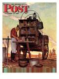 """""""Chuckwagon,"""" Saturday Evening Post Cover, September 14, 1946 Giclée-Druck von Mead Schaeffer"""