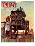 """Chuckwagon,"" Saturday Evening Post Cover, September 14, 1946 Gicléetryck av Mead Schaeffer"