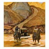 """Westward Tow,"" May 29, 1948 Gicléetryck av Mead Schaeffer"