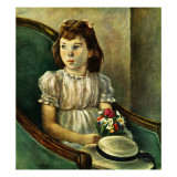 """Portrait of Little Girl,"" May 5, 1945 Giclee Print by Alexander Brook"