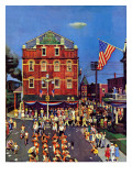 """Independence Parade,"" July 7, 1945 Giclee Print by John Falter"