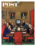 """Baseball in the Boardroom,"" Saturday Evening Post Cover, October 8, 1960 Giclee Print by Lonie Bee"