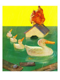 """Ducks in a Flood,"" April 5, 1941 Giclee Print by McCauley Conner"