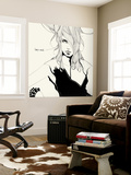 Lady in Black Wall Mural by Manuel Rebollo