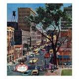 &quot;Peachtree Street,&quot; June 25, 1960 Giclee Print by John Falter