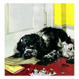 """Butch Chews the Mail,"" March 13, 1948 Giclee Print by Albert Staehle"