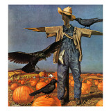 """Scarecrow,"" October 26, 1946 Reproduction procédé giclée par John Atherton"