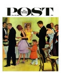 """Hitting the Buffet,"" Saturday Evening Post Cover, November 11, 1961 Giclee Print by George Hughes"