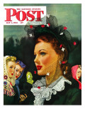 """War Widow,"" Saturday Evening Post Cover, May 1, 1943 Giclee Print by Alex Ross"