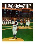 """""""Baseball Fight,"""" Saturday Evening Post Cover, April 28, 1962 Reproduction procédé giclée par James Williamson"""