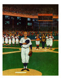 """Baseball Fight,"" April 28, 1962 Giclee Print by James Williamson"