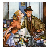 """Before Dinner Kiss,"" April 9, 1949 Giclee Print by Constantin Alajalov"