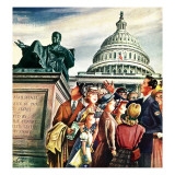 """Tourists in Washington D. C.,"" August 7, 1948 Giclee Print by Constantin Alajalov"