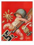 """Baby New Year at War,"" January 2, 1943 Giclee Print by J.C. Leyendecker"