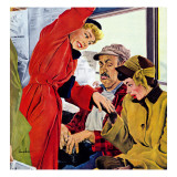 """Showing Off Her Ring,"" January 22, 1949 Giclee Print by George Hughes"