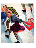 """Crack the Whip,"" March 2, 1940 Giclee Print by Emery Clarke"