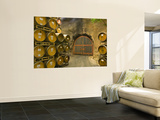 Oak Barrels Stacked Outside of Door at Ironstone Winery, Calaveras County, California, USA Wall Mural by Janis Miglavs