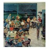 """""""Clubhouse on Rainy Day,"""" July 8, 1961 Reproduction procédé giclée par Ben Kimberly Prins"""