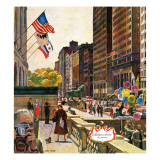 """Michigan Avenue, Chicago,"" October 15, 1960 Giclee Print by John Falter"