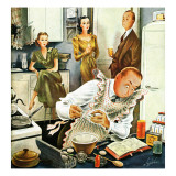 """Gourmet Cook,"" April 13, 1946 Giclee Print by Constantin Alajalov"