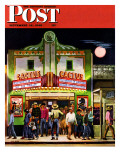 """Cactus Theater,"" Saturday Evening Post Cover, September 18, 1948 Giclee Print by John Falter"