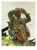 """Tank Patrol,"" November 6, 1943 Giclee Print by Mead Schaeffer"