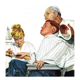 """Haircut and Manicure,"" December 11, 1948 Giclee Print by George Hughes"