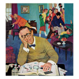 """No Quiet for Daddyo,"" May 14, 1960 Giclee Print by Richard Sargent"