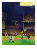 """Yankee Stadium,"" April 19, 1947 Reproduction procédé giclée par John Falter"