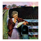 """Letter from Overseas,"" May 8, 1943 Giclee Print by John Falter"