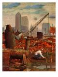 """Junkyard Garden,"" April 26, 1947 Giclee Print by John Atherton"