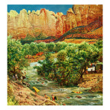 """Zion Canyon,"" July 9, 1960 Giclee Print by John Clymer"