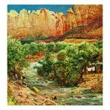 """Zion Canyon,"" July 9, 1960 Giclee Print by John Clymer"