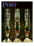 """St. Patrick's Cathedral at Christmas,"" Saturday Evening Post Cover, December 3, 1949 Giclee Print by John Falter"