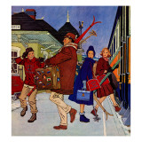 """Wrong Week at the Ski Resort,"" January 14, 1961 Giclee Print by James Williamson"