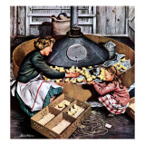 &quot;Chicks in Incubator,&quot; March 5, 1949 Giclee Print by Stevan Dohanos