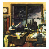 """Weatherman Was Right,"" April 27, 1946 Giclee Print by Stevan Dohanos"