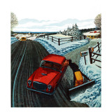 """Kiss At the End of the Driveway,"" February 24, 1962 Giclee Print by James Williamson"