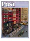 """Gramercy Park,"" Saturday Evening Post Cover, March 25, 1944 Giclee Print by John Falter"