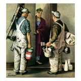 """Apartment Painters,"" May 1, 1948 Giclee Print by Stevan Dohanos"