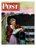 """Letter from Overseas,"" Saturday Evening Post Cover, May 8, 1943 Giclee Print by John Falter"