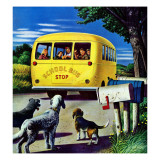 """School Bus,"" September 2, 1944 Giclee Print by Stevan Dohanos"